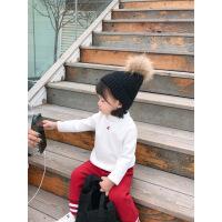 №【2019新款】女宝宝加绒打底衫秋冬婴儿t恤儿童半高领打底衣小童t恤