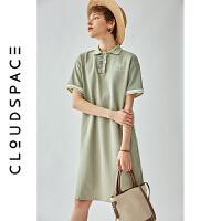 【限时抢购】云上生活2019夏新款短袖文艺裙子中长款气质连衣裙女L3301