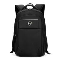 男士商务双肩包工作出差旅行被包青少年书包男土上班用电脑背包包 黑色 .寸电脑包