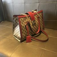 2018新款韩版大气链条包大容量手包大包手提包单肩包女包潮 红色+终生保修+现货 1年后可换新