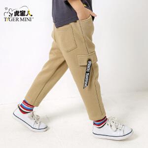 小虎宝儿童装儿童裤子男童春秋装2-3-4-5-6-7岁潮加绒运动长裤