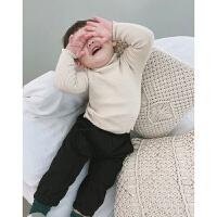 男童针织衫打底高领毛衣秋冬儿童毛线衫