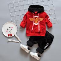 男宝宝秋装套装冬季男童两件套