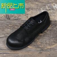 新品上市19春季复古做旧款式大头皮鞋男鞋真皮英伦休闲鞋低帮潮鞋