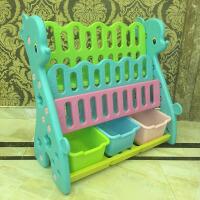 []御目 书柜 简易塑料儿童小孩书架子幼儿园图书架玩具架宝宝收纳整理柜室内置物架满额减限时抢礼品卡收纳架