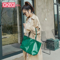 aza包包女2019新款夏时尚小ck大容量韩国狗牙包单肩包托特包女包