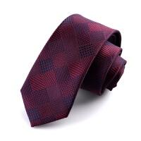 韩版商务正装红色结婚新郎领带男士正装商务休闲伴郎细窄女领带潮 JHXQ:368 8CM宽度