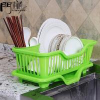 门扉 沥水架 简约创意置物篮沥水碗架收纳篮放碗放筷盘碟餐具架子塑料滴水碗柜厨房用品家居日用收纳置物架