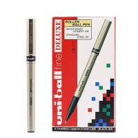 三菱UB-177直液式走珠笔 0.7签字笔 中性笔 黑色水笔 考试笔 12支