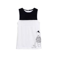 【88元选8件包邮】GagouTagou小童连衣裙女夏季背心裙韩版纯棉儿童白色裙子1一3岁2