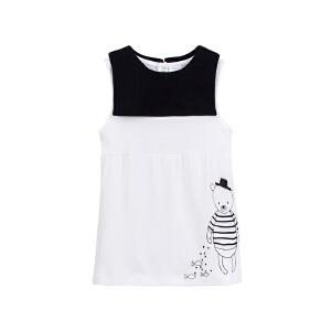GagouTagou小童连衣裙女夏季背心裙韩版纯棉儿童白色裙子1一3岁2