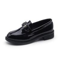 201909230438254232019春季新款英伦风复古小皮鞋女鞋金属扣单鞋乐福学院休闲懒人鞋