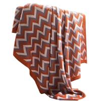 针织仿羊绒盖毯单人午睡毯子床品配饰柔软毛毯 101*178cm色