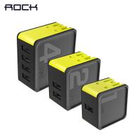 【包邮】ROCK 苹果充电器 2.4A快充通用华为小米三星vivo魅族oppo联想多口双孔四口充电头电源适配器