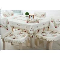 田园绣花台布餐桌布 绣花镂空桌布茶几布 桌裙布艺 粉色