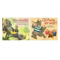 正版#Go Away Mr.Wolf & One Gorilla 走开 野狼先生&一只大猩猩 英文原版图书绘本 廖彩杏书