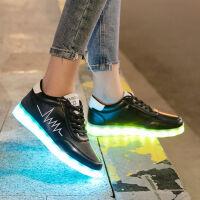 新品 充电七彩鬼步舞鞋子 跳鬼步舞发光鞋 男女学生板鞋鬼步舞鞋