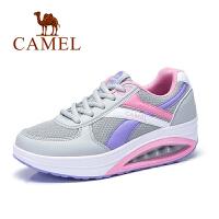 Camel/骆驼女鞋 春夏新款休闲运动鞋 拼色女单鞋百搭中跟摇摇底鞋