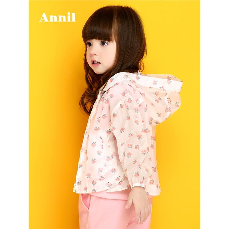 安奈儿童装女小童秋季新款梭织风衣外套防晒衣TG815153 安奈儿童装,不一样的舒适