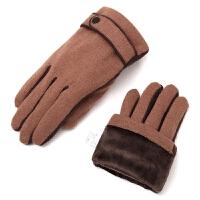 秋冬新男士手套骑行手套双层加绒保暖手套防风防寒