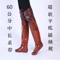 男女插秧鞋中高筒靴水田鞋袜软底松紧系带过膝下水鞋钓捕鱼靴雨鞋