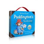 英文原版绘本 Paddington Suitcase 小熊帕丁顿熊的手提箱8本礼品套装纪念合集儿童可爱礼物趣味故事图画