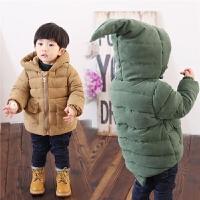 儿童棉衣外套长款男童宝宝棉衣