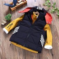 男童连帽棉马甲秋冬季宝宝保暖背心童装儿童带帽坎肩