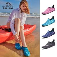伯希和户外沙滩鞋2020新款男女海边度假溯溪鞋时尚防滑软底潜水鞋