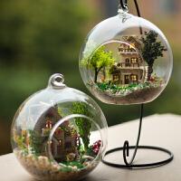 diy小屋玻璃球手工制作小房子模型拼装女孩玩具生日礼物女生