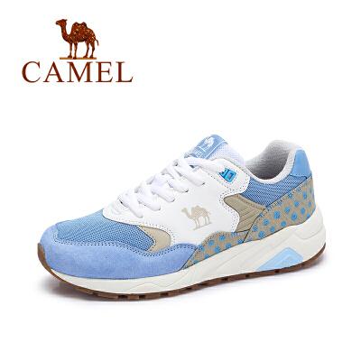 camel/骆驼女鞋 秋季新款 透气撞色韩版百搭休闲运动鞋系带女跑步鞋
