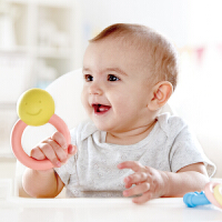 Hape儿童质体发展玩具摇铃握环(大米材质)0M+