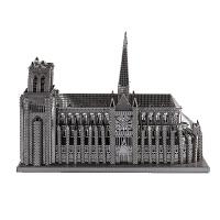 3D立体模型diy手工成人益智玩具创意礼品拼装金属拼图巴黎圣母院