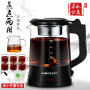 欧美特OMT-PC10A煮茶器黑茶普洱玻璃电热水壶蒸茶壶 全自动保温蒸汽电煮茶壶 公道杯+6个小茶杯