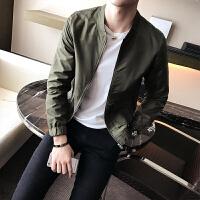 秋冬外穿长袖男装外套夹克衫大码修身秋季2017韩版男士夹克上衣