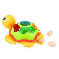 儿童益智玩具宝宝玩具电动万向转灯光音乐会下蛋的小乌龟