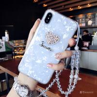 �坌��水晶�炖K�O果x手�C�す枘z�7p潮牌8plus新款iphone6s女 6/6S 4.7寸 白色