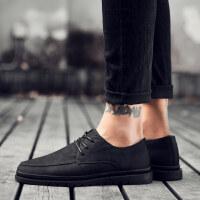 男士休闲皮鞋男韩版潮流商务正装鞋内增高鞋夏季透气英伦磨砂百搭鞋子男