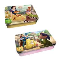 迪士尼卡通白雪公主系列阶梯训练铁盒拼图F 共2盒