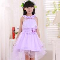 童装公主裙女童礼服裙儿童婚纱演出裙长拖尾裙花童裙