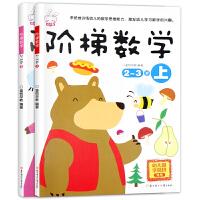 全2册阶梯数学2-3岁幼儿数学逻辑思维训练游戏趣味全脑智力开发 儿童益智启蒙书籍小学生一年级天天练启蒙幼儿园 小班套装