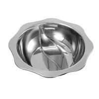 加厚不锈钢八角鸳鸯锅火锅盆电磁炉专用锅具7ft