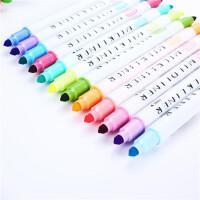 韩酷822荧光笔彩色护眼色双头荧光笔装饰重点标注涂鸦彩笔