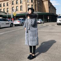 女2018新款韩版冬装学生棉袄中长款面包服灯芯绒外套羽绒棉衣