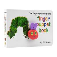 The Very Hungry Caterpillar's 饥饿的毛毛虫 英文绘本手偶书 Eric Carle 儿童英