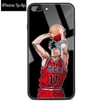 iphone7plus手机壳苹果8玻璃壳灌篮高手男款苹果6s个性创意潮款7p