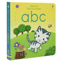 Usborne Fold-out ABC 字母 趣味图书风琴状折叠书 低幼儿童早教 英语启蒙0-3岁 儿童英文原版进口