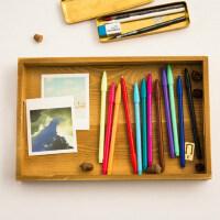 彩色水彩笔 儿童韩国文具画画笔 创意中性笔monami3000水笔