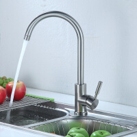 天王卫士单孔厨房龙头天卫浴卫浴洗菜盆水槽水不锈钢混水阀水