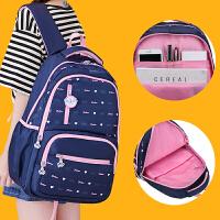 清新高中学生书包女初中生大容量双肩包校园背包